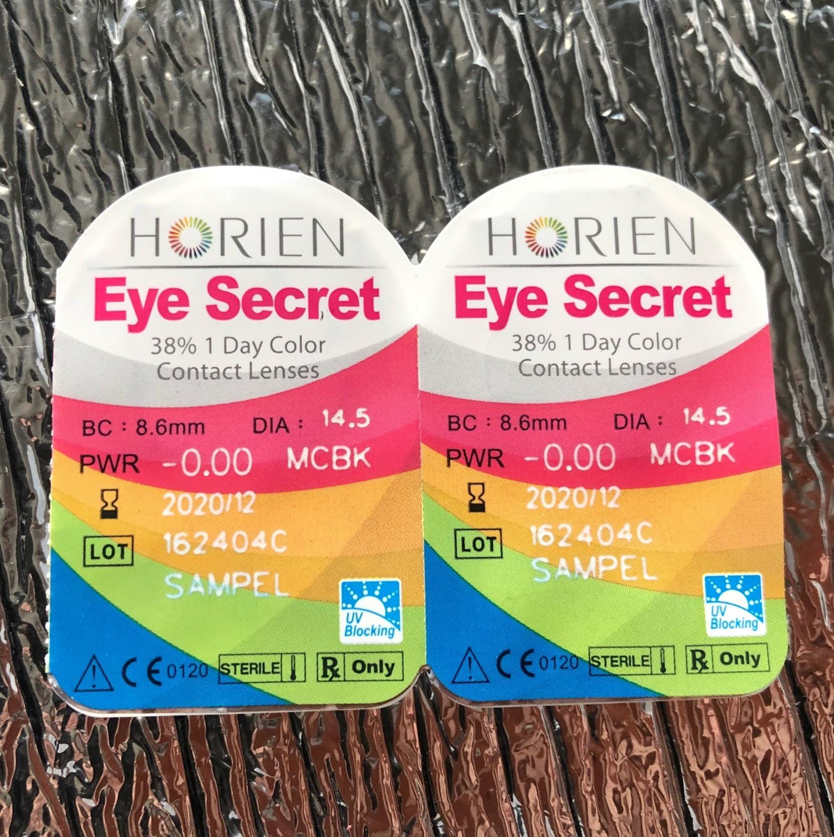 Hình ảnh (Hàng mẫu-Sample) Combo 3 cặp kính áp tròng màu dùng 1 ngày Eye Secret (không cận)