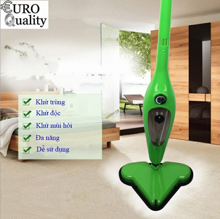 Máy lau nhà hơi nước H20 X12, làm sạch và khử trùng vệ sinh sàn nhà bằng hơi nước Euro Quality