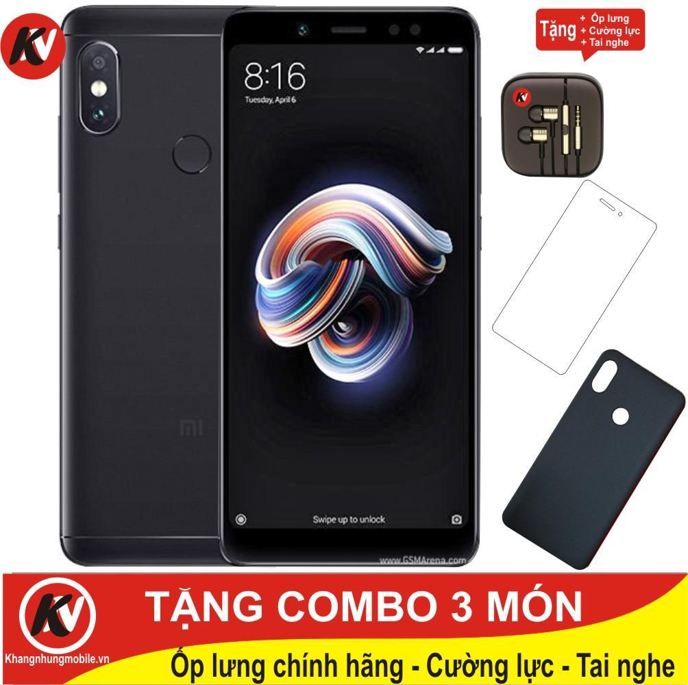 Mua Xiaomi Redmi Note 5 Pro 64Gb Ram 4Gb Kim Nhung Đen Hang Nhập Khẩu Ốp Lưng Cường Lực Tai Nghe Xiaomi Nguyên