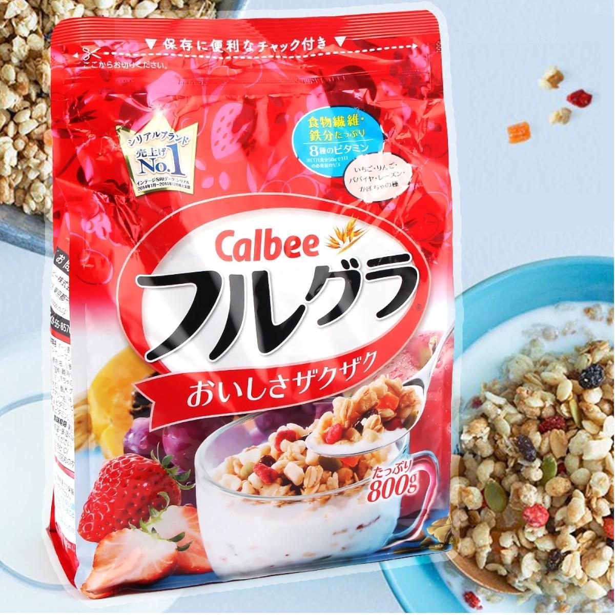 Ngũ cốc trái cây Calbee Nhật 800gr (Nguyên kiện)