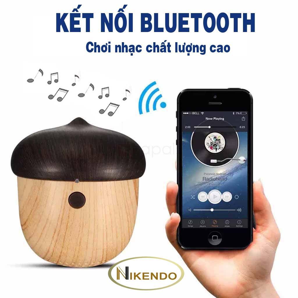 Bán Loa Bluetooth Mini Di Động Gia Rẻ 2018 Van Gỗ Hinh Quả Hạch Quả Sồi Mẫu Mới J2 Nikendo Bảo Hanh 1 Đổi 1 Có Thương Hiệu Rẻ