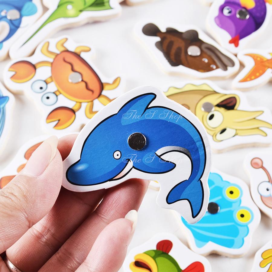 Hình ảnh Bộ Đồ chơi cấu cá bằng gỗ 32 chi tiết - siêu an toàn cho bé