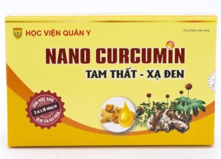Hình ảnh Nano Curcumin Tam thất xạ đen - CHÍNH HÃNG HVQY
