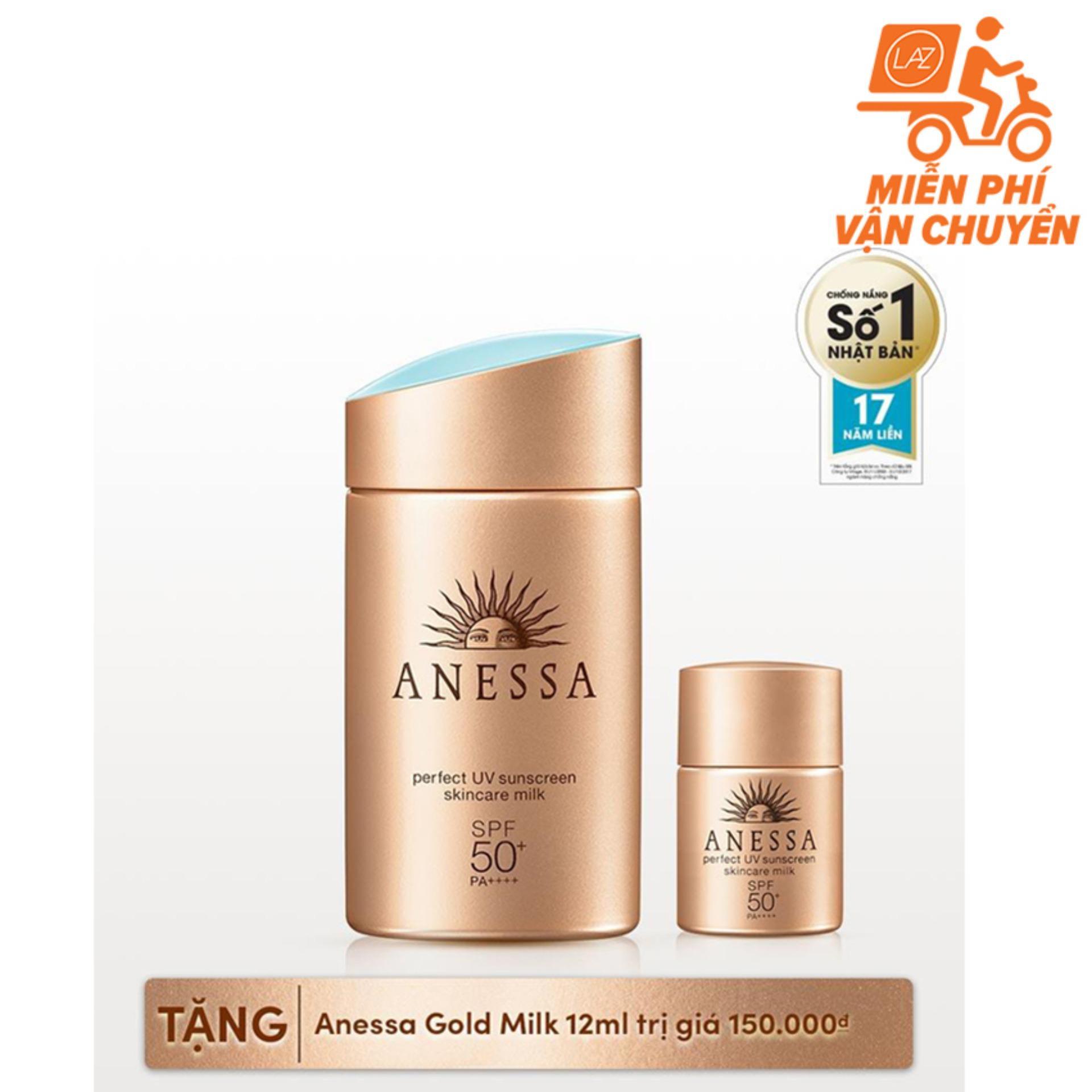 Giá Bán Sữa Chống Nắng Bảo Vệ Hoan Hảo Anessa Perfect Uv Sunscreen Skincare Milk Spf 50 Pa 60Ml Tặng Gold Milk 12Ml Trị Gia 150 000 Mới