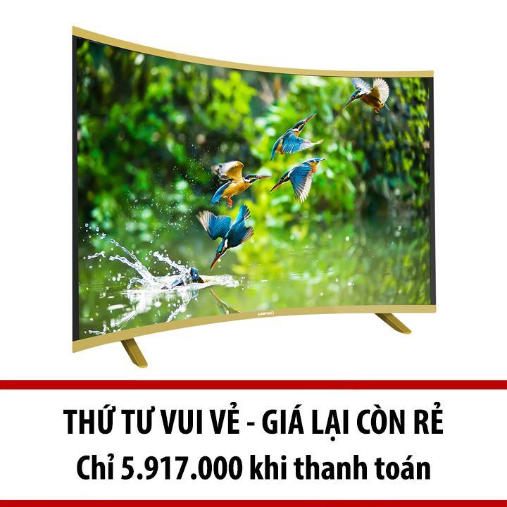 Hình ảnh Smart TV Asanzo màn hình cong 40 inch HD - Model AS40CS6000 (Đen)