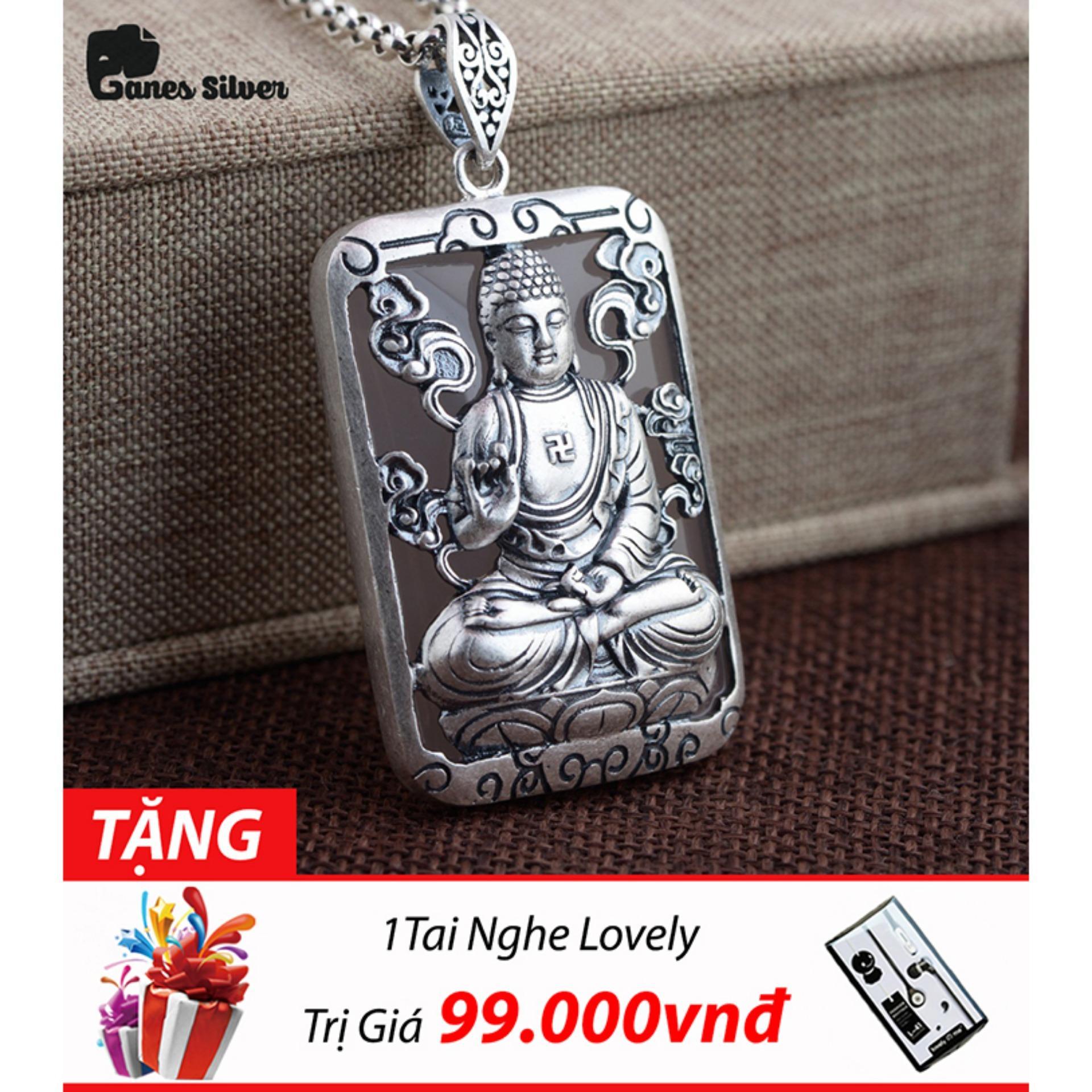 Giá Bán Mặt Day Chuyền Bạc Nam Phật A Di Đa Chất Liệu Bạc Thai Cao Cấp Thương Hiệu Ganes Bạc Ganes Silver Mới