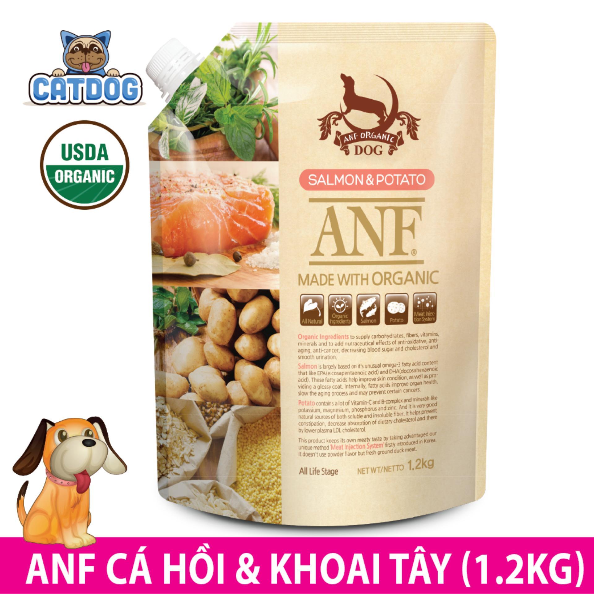 Ôn Tập Hạt Anf Made With Organic Vị Ca Hồi Va Khoai Tay 1 2Kg Cho