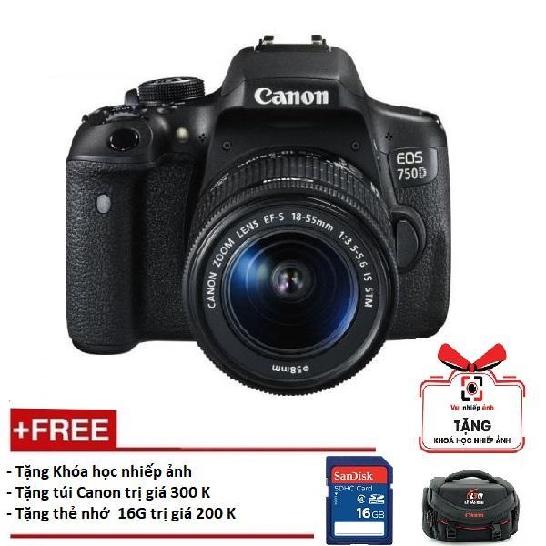 Giá Bán Canon 750D Kem Lens 18 55Mm Is Stm Hang Canon Le Bảo Minh Tặng Khoa Học Nhiếp Ảnh Eos Thẻ Sd 16Gb Tui Rẻ