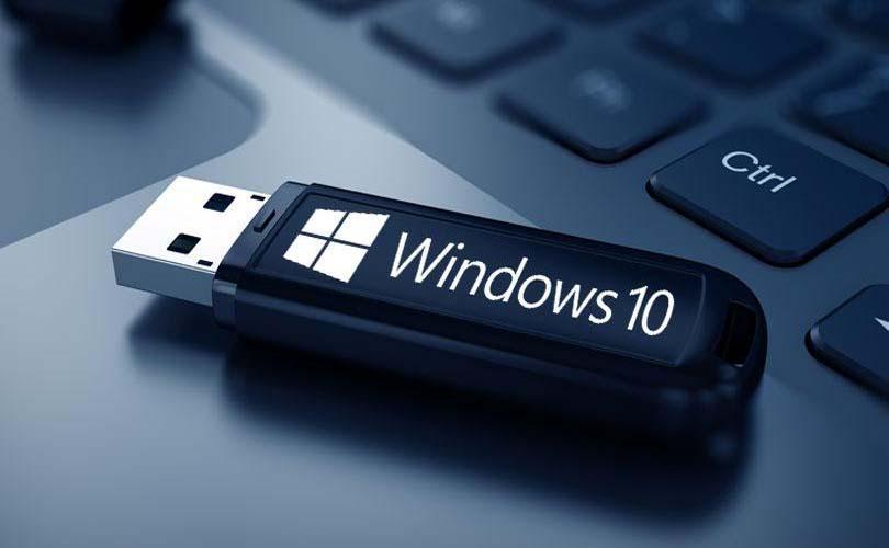 Hình ảnh Usb cài đặt windows 10 64/bit tự động hoàn toàn.