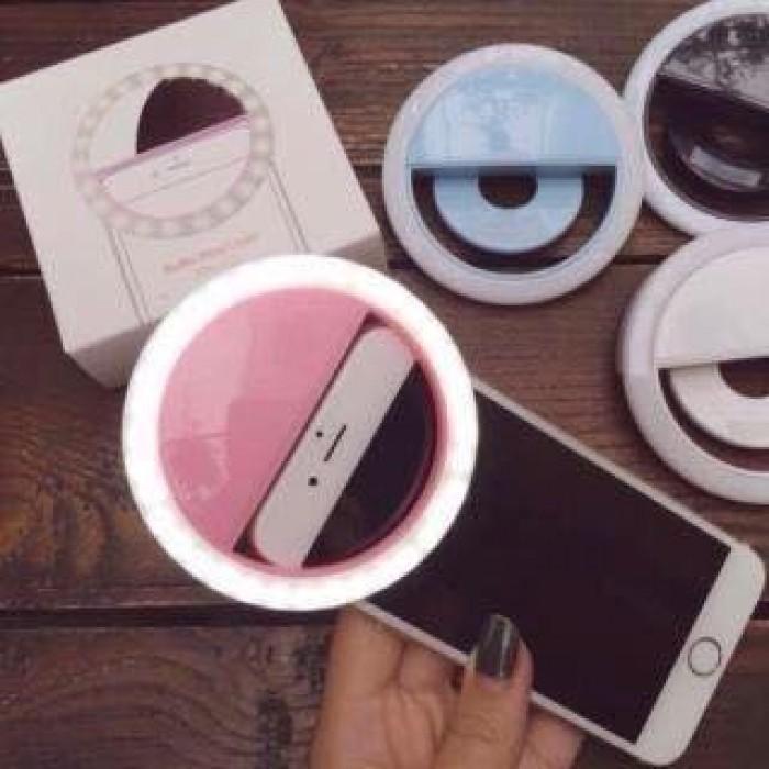 Hình ảnh Đèn selfie Ring light cho điện thoại tặng kèm dây sạc + Tặng kèm 1 dụng cụ lấy ráy tai có đèn