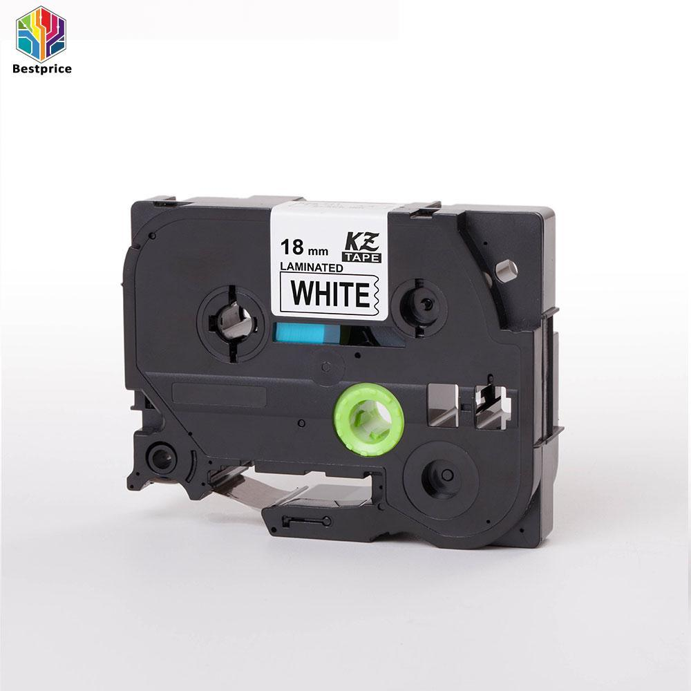 Compatible For Brother P-Touch Tze Label Tape Tze241 Ribbon 18mm Black On White By Bestprice2015.