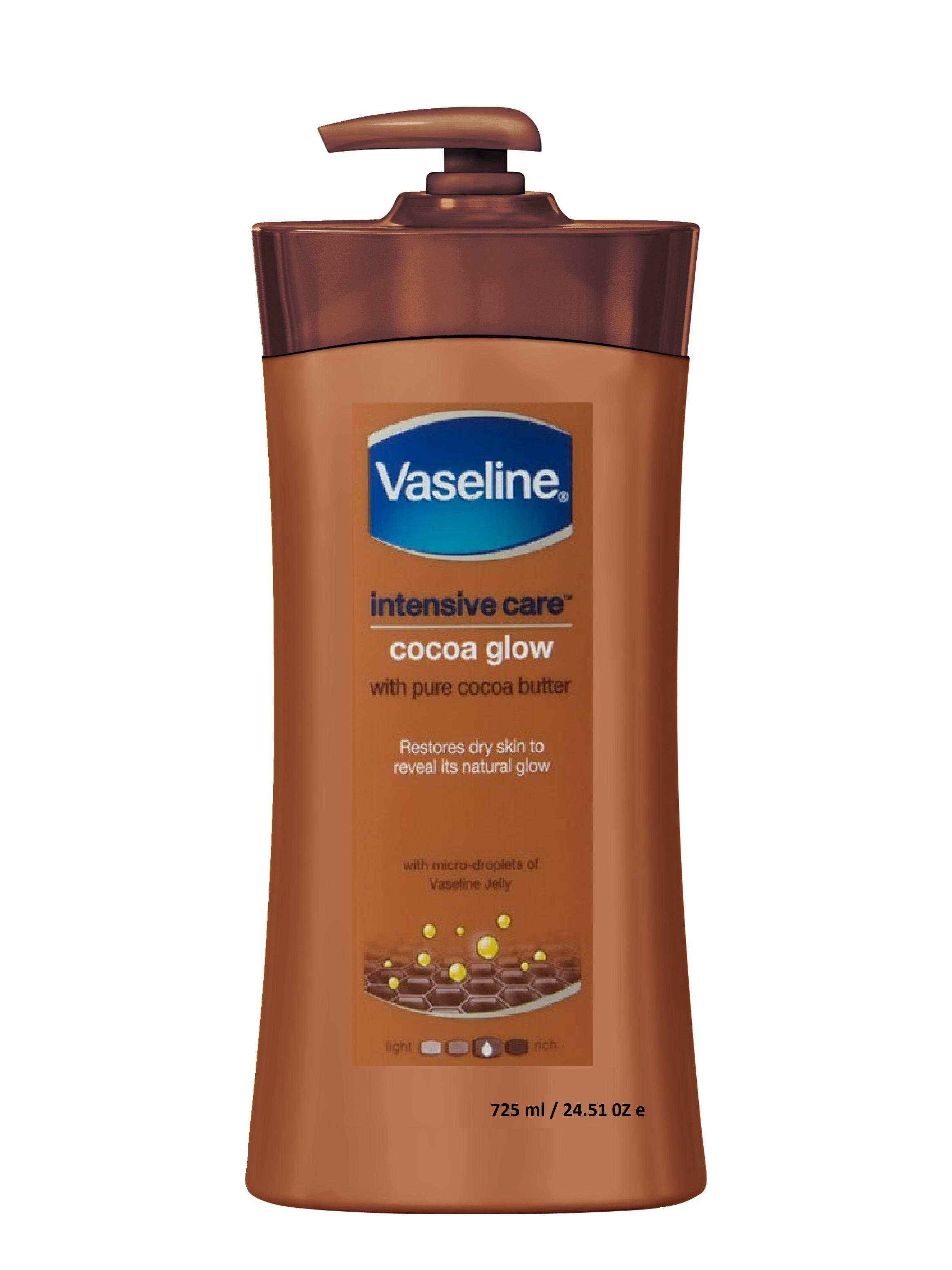 Dưỡng ẩm Vaseline intensive care Cocoaglow body lotion 725ml