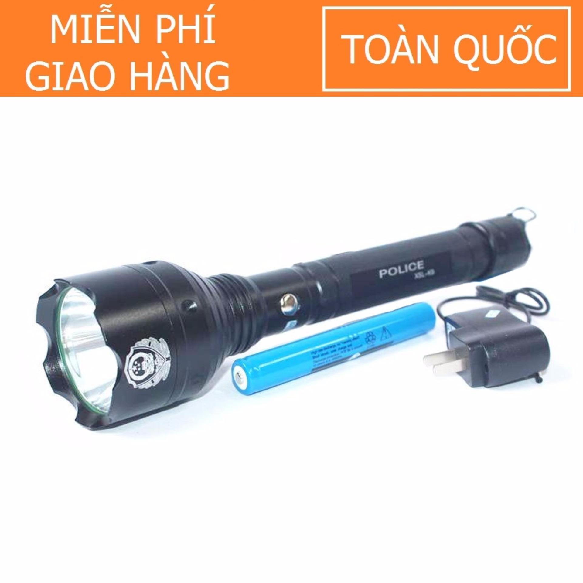Hình ảnh Đèn pin Police vỏ kim loại siêu sáng Smart Store K9 + 1 pin sạc 7.800mAh + 1 cục sạc hỗ trợ hoặc miễn phí vận chuyển giao hàng