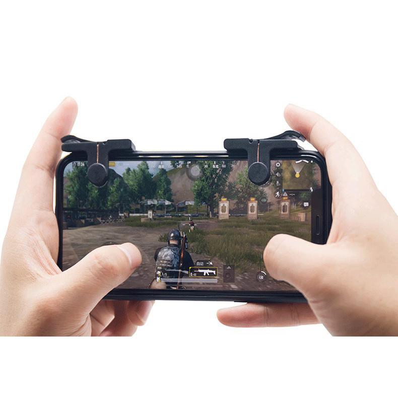 Hình ảnh Bộ 2 Nút Bấm Chơi Game PUBG Dòng C9 Hỗ Trợ Chơi Pubg Mobile, Ros Mobile Trên Mobile, Ipad - Thế hệ 3 Mới 2018