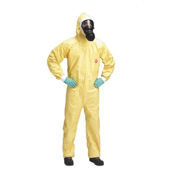 Quần áo chống hóa chất Tychem C | quần áo bảo hộ sử dụng trong môi trường ô nhiễm, hóa chất phóng xạ | Bộ quần áo liền quần chống hóa chất