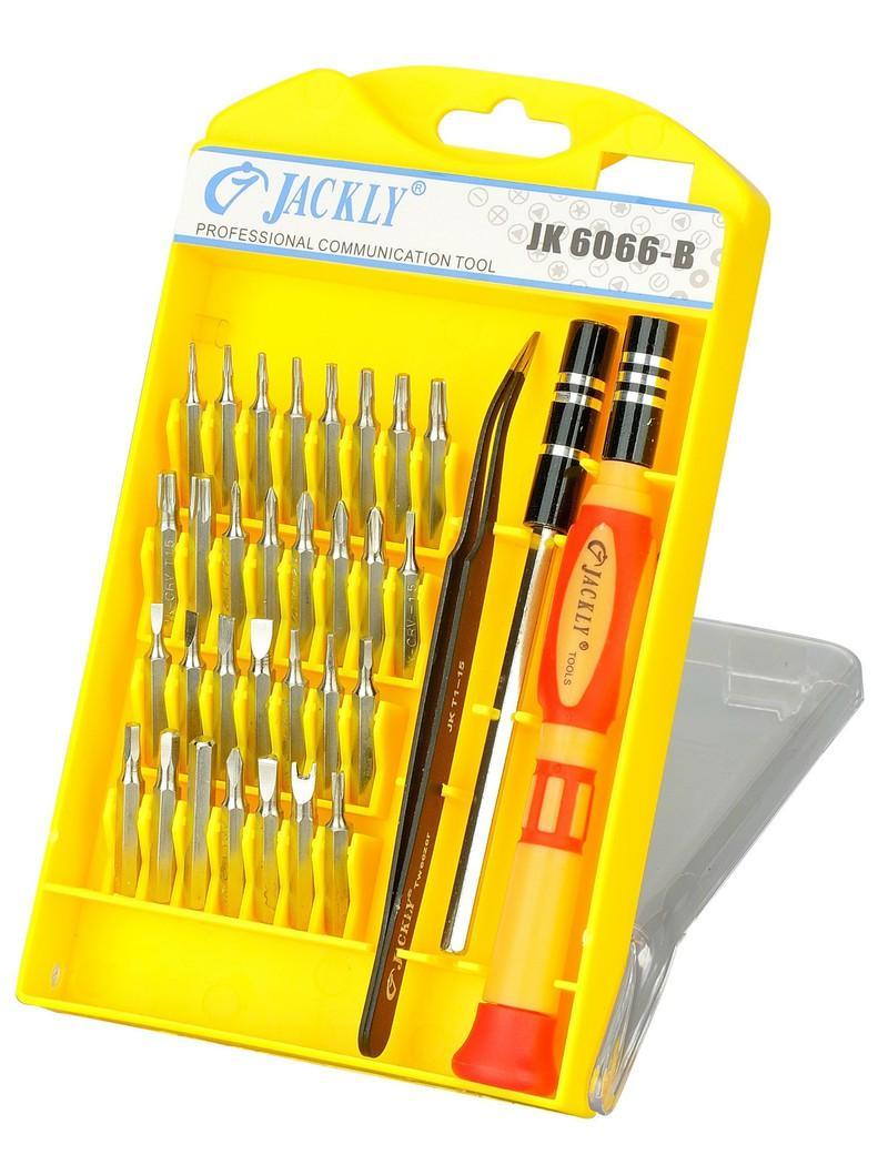 Hình ảnh Bộ 32 món tua vít đa năng Jackly JK6066-B (Vàng)