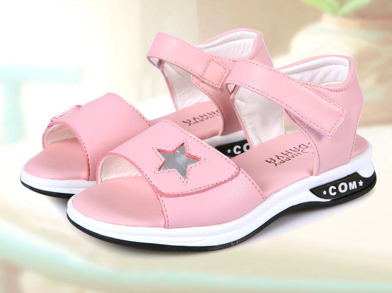 Hình ảnh sandal cho bé gái đi học chống trượt HQ-03 phiên bản hàn quốc