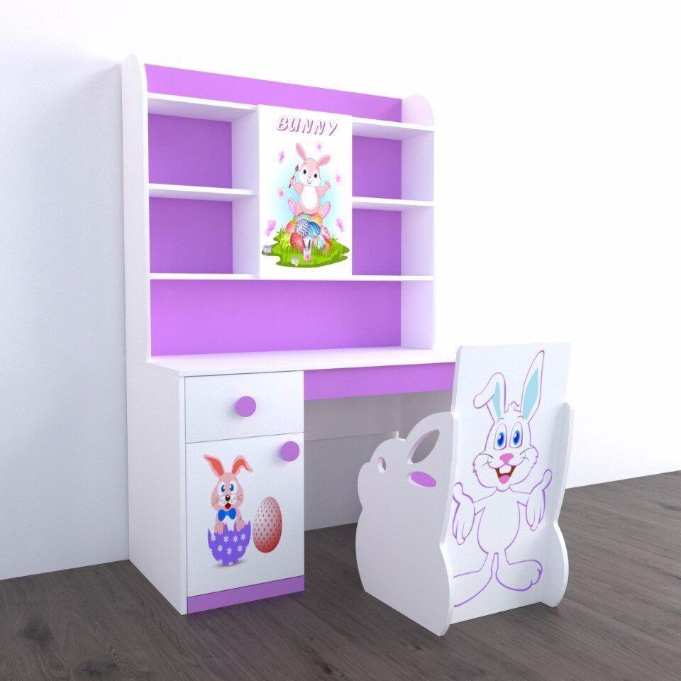 Bàn Học Bunny (Trên 1m dưới 1m2)