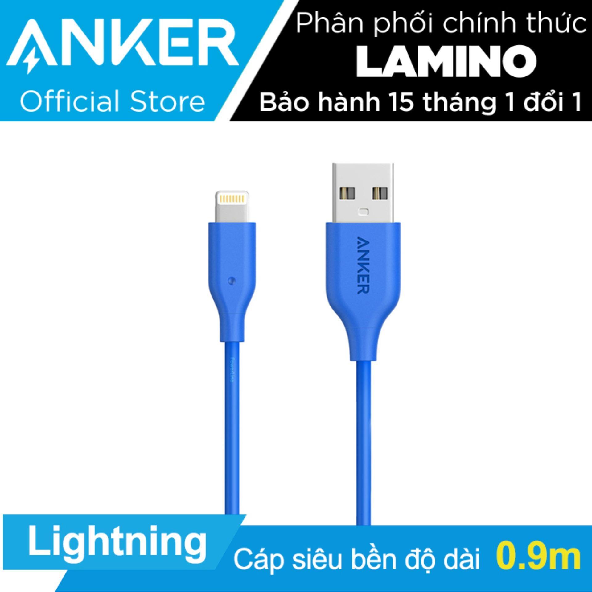 Mua Cap Sạc Sieu Bền Anker Powerline Lightning 9M Cho Iphone Ipad Ipod Xanh Dương Hang Phan Phối Chinh Thức Trực Tuyến