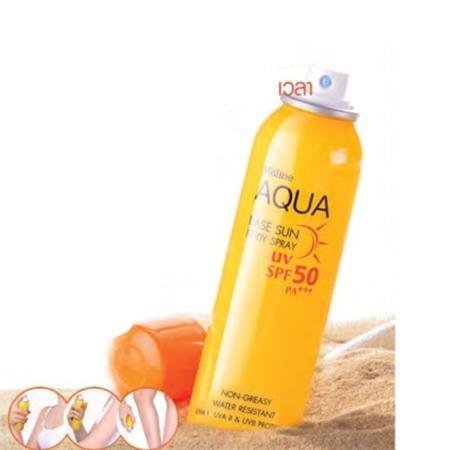 Hình ảnh Kem Chống Nắng Dạng Xịt Mistine Aqua Base Sun Body Spray