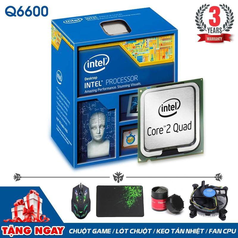 Hình ảnh Bộ vi xử lý Intel CPU Core 2 Quad Q6600 (4 lõi, 4 Luồng) + Quà Tặng - Hàng Nhập Khẩu