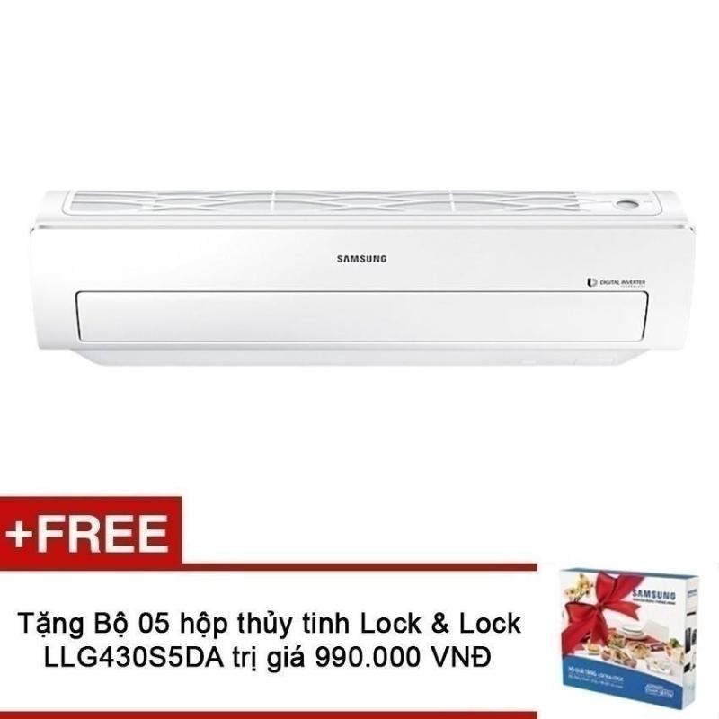 Máy lạnh Inverter Samsung AR10MVFSBWKNSV (1HP) + Tặng Bộ 05 hộp thủy tinh cao cấp Lock & Lock LLG430S5DA trị giá 990,000 VNĐ chính hãng
