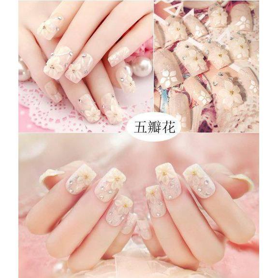 Hình ảnh Bộ 24 Móng tay giả , nail giả , móng giả ( kèm keo dán )