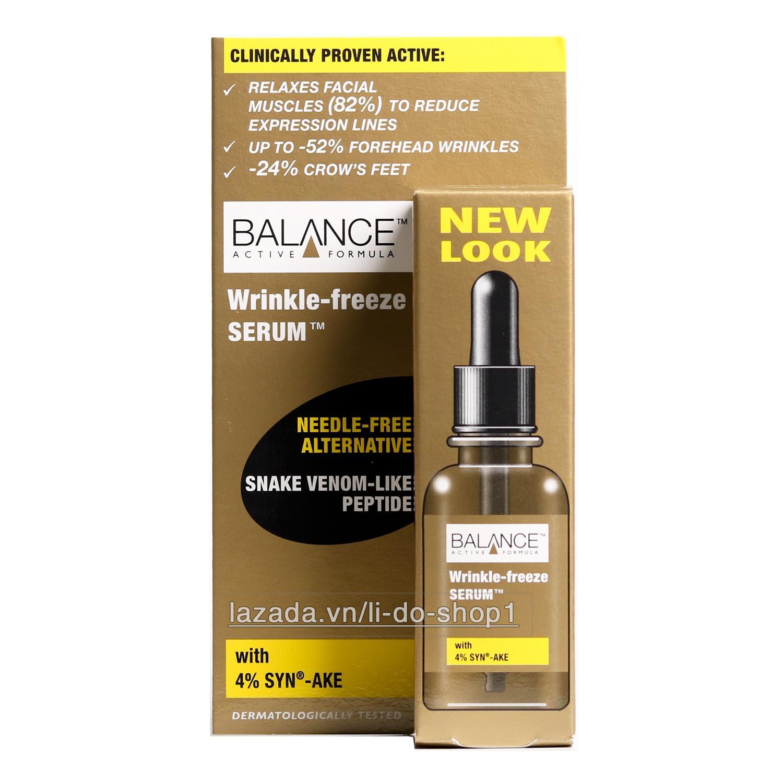 Serum tinh chất trị thâm lão hoá da Balance Wrinkle Freeze 30ml (Nâu)