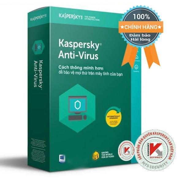 Mua Phần Mềm Diệt Virus May Tinh Kaspersky Anti Virus 1Pc Box Bản Quyền 1 Năm Kaspersky Trực Tuyến