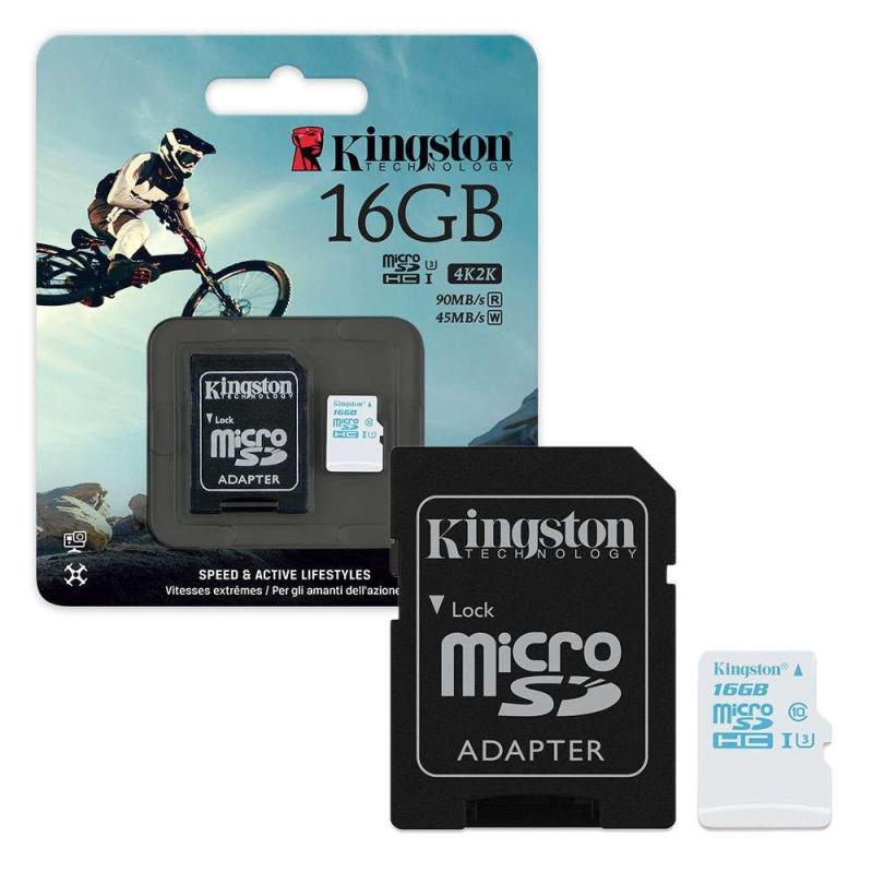 Thẻ Nhớ MicroSDXC Kingston 16GB U3 90MB/80MB