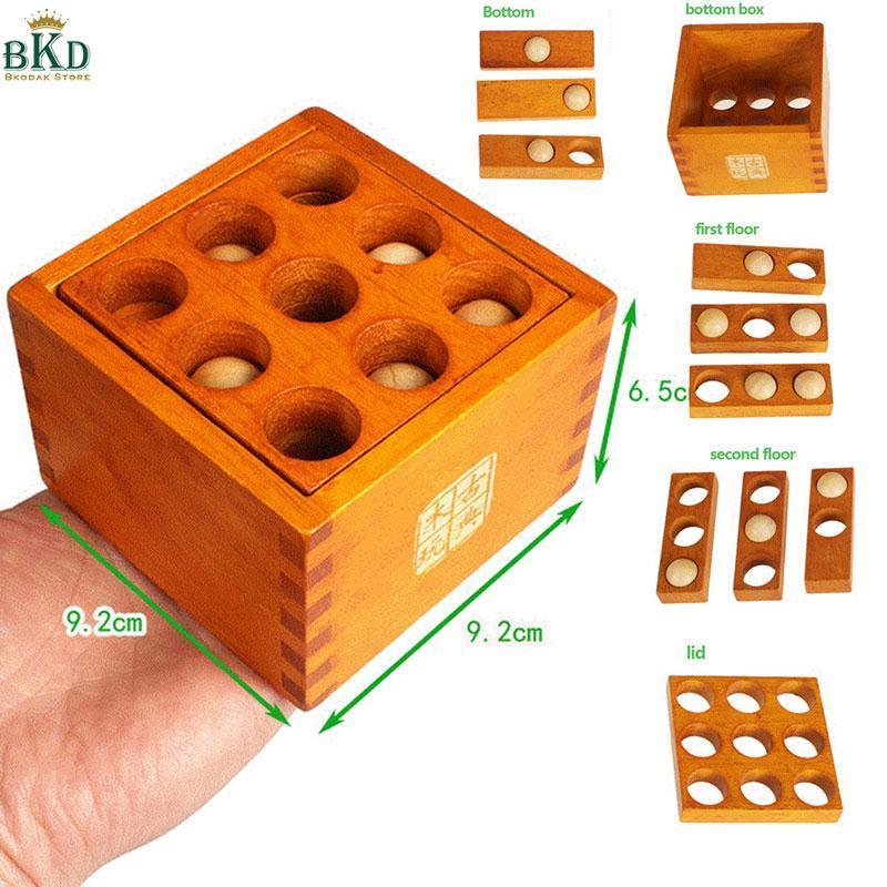 Hình ảnh Bkodak Store Wooden Lubricious Lock Toys Wooden Unlock Toy Unlock Puzzle Toy