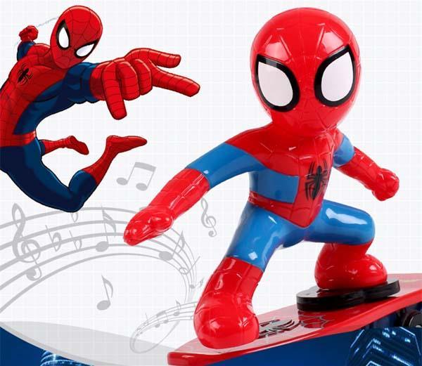 Hình ảnh Đồ chơi người nhện trượt ván cho bé xoay 360 độ hài hước