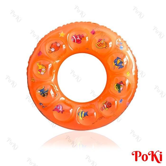 Hình ảnh Phao bơi tròn 2 LỚP - size 90 cho người trên 18 tuổi, phao bơi PVC cao cấp, an toàn khi sử dụng - POKI