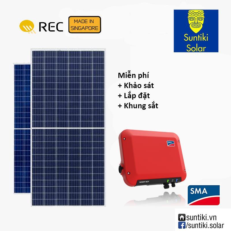 Combo Hệ thống điện năng lượng mặt trời - 8550W (30 tấm pin REC + Máy biến tần SMA)