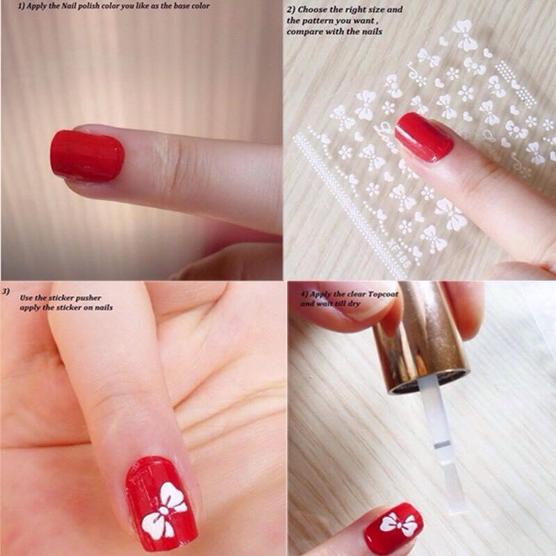 Hình ảnh Bộ 10 tấm sticker dán móng 40 mẫu thanh lịch Nail Art
