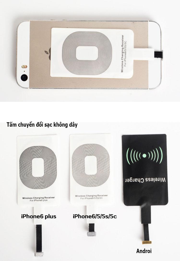 Hình ảnh Miếng nhận sạc không dây chuẩn Qi cho iPhone 5 5c 5s
