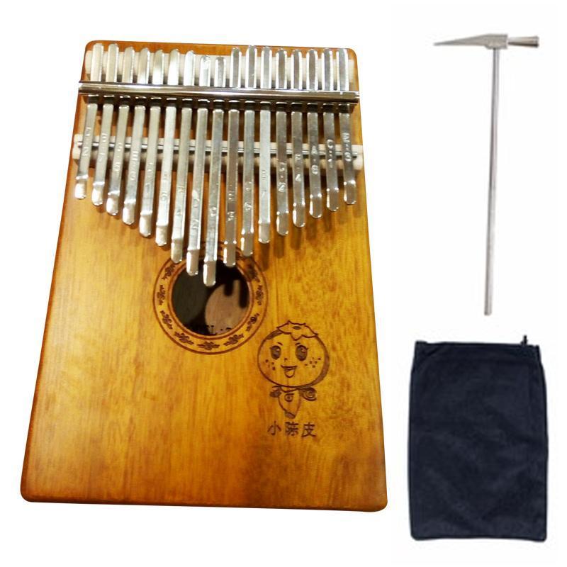 [Full phụ kiện] Đàn Kalimba 17 phím chuẩn gỗ mahogany hot 2018 thumb piano (kèm búa chỉnh âm, túi đựng, sách hướng dẫn)