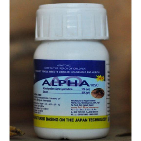 Thuốc diệt muỗi Alpha 10SC, hóa chất diệt côn trùng hiệu quả
