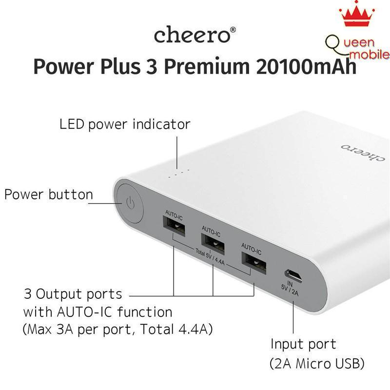 Pin sạc dự phòng Nhật Bản bền đẹp cheero Power Plus 3 Premium CHE-062 (20100 mAh) – Review và Đánh giá sản phẩm