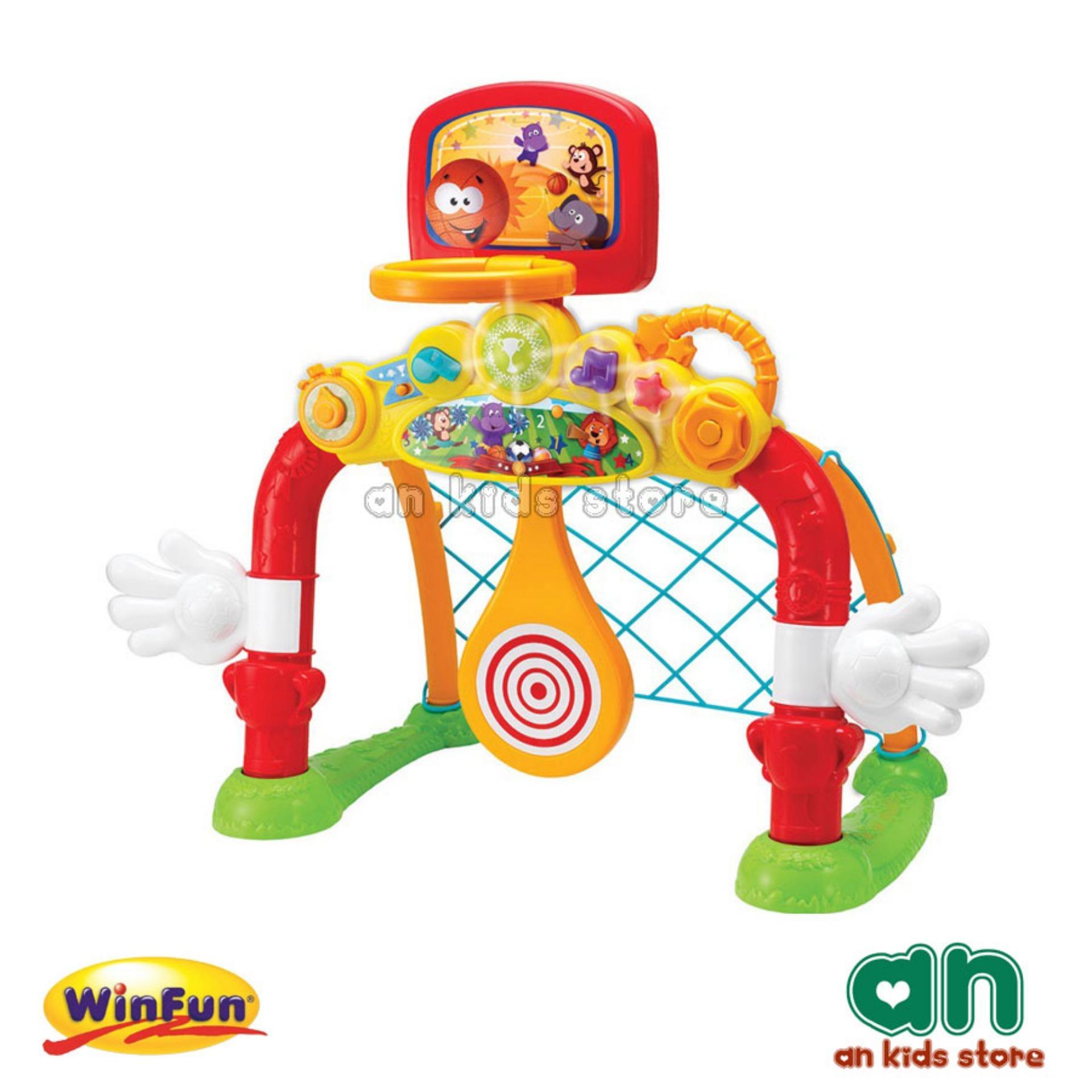 Cột Lưới Ném/thả Bóng 4in1 Winfun 6001 By An Kids Store