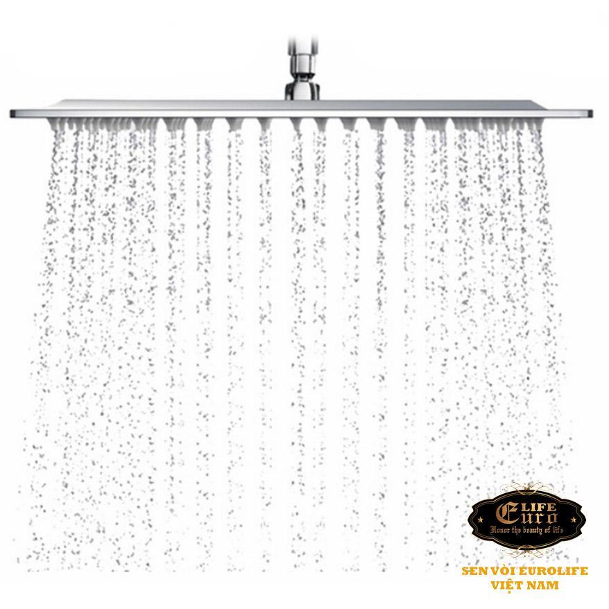 Hình ảnh Đài sen tắm Inox SUS 304 Eurolife vuông EL-DSV20 (Trắng vàng)