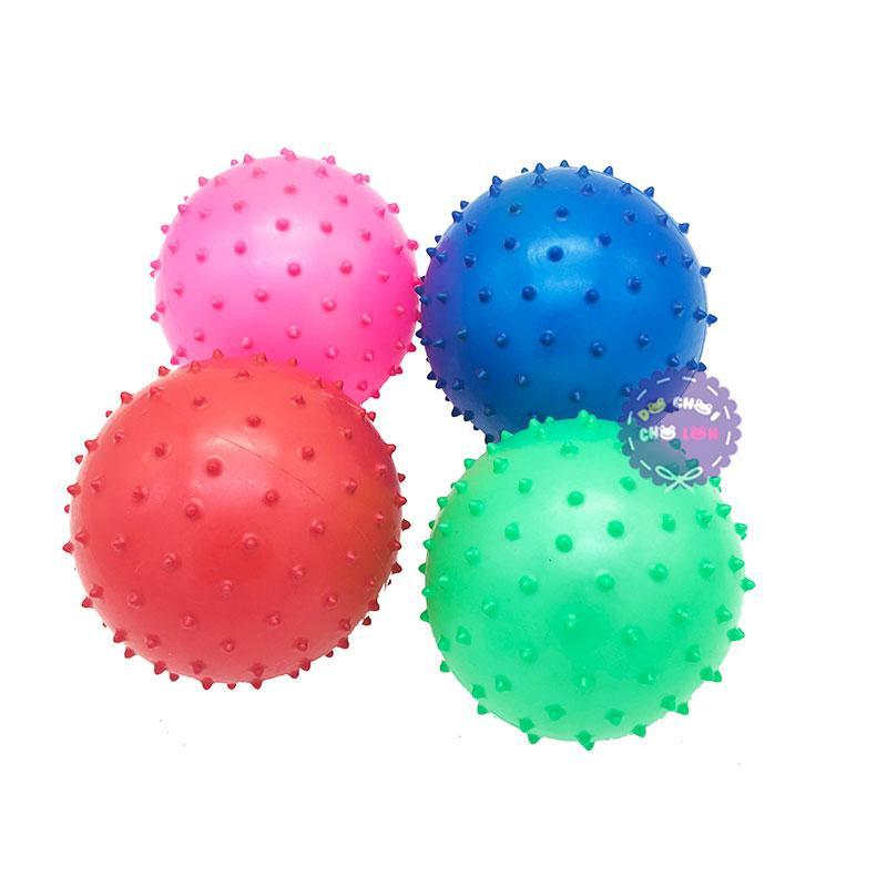 Hình ảnh Bộ đồ chơi 4 trái banh tưng gai túi lưới size 12 cm TX165
