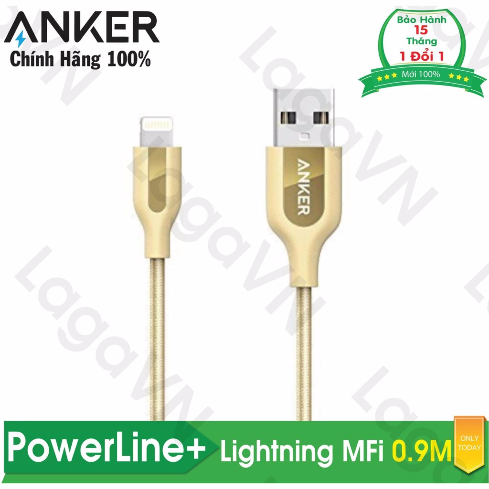 Bán Cap Sạc Nylon Anker Powerline Lightning Mfi Dai 9M Khong Tui Da Cho Iphone Ipad Ipod A8121 Hang Phan Phối Chinh Thức Trong Hồ Chí Minh