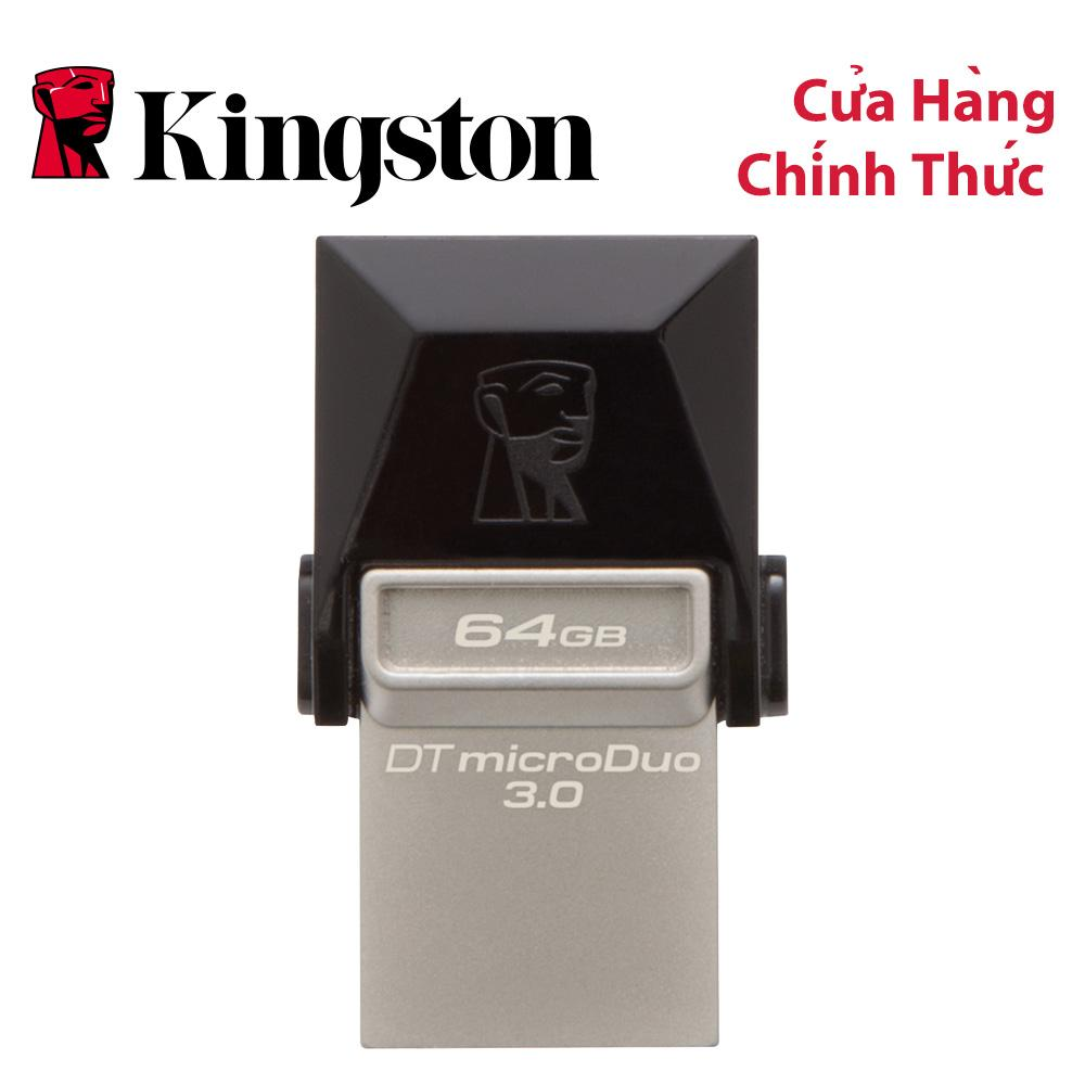 Hình ảnh USB Kingston DataTraveler microDUO 64GB USB 3.0 OTG (DTDUO3/64GB)