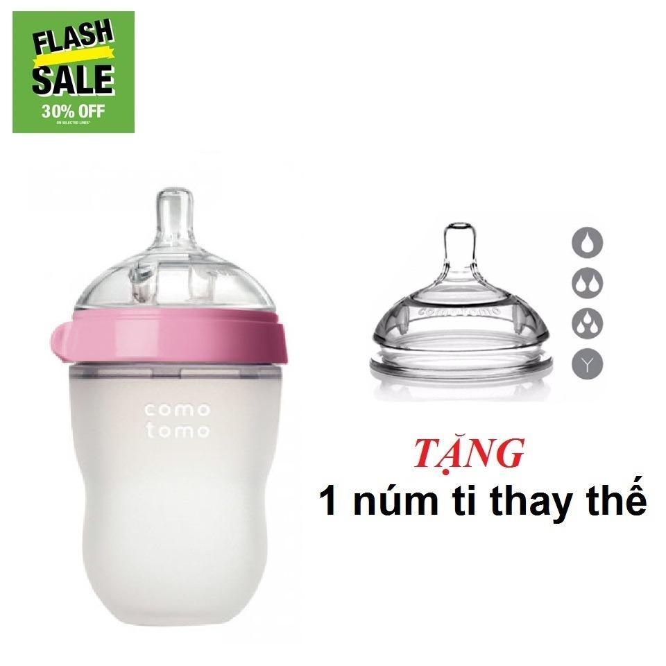 Mua Binh Sữa Comotomo 250Ml Hồng Tặng 1 Num Thay Thế Trong Việt Nam