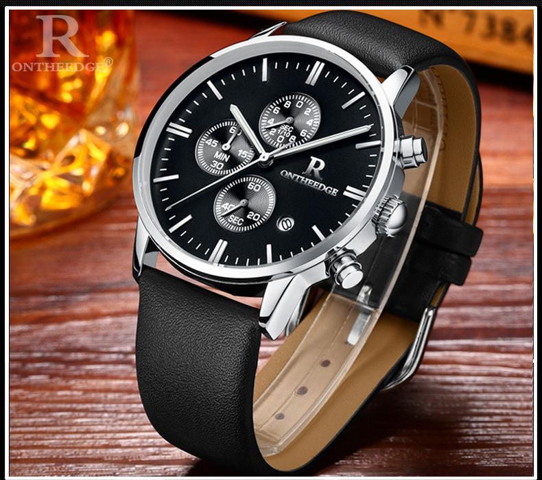 Chiết Khấu Men S Chronograph Luxury Watch Đồng Hồ Cao Cấp Bấm Giờ Chronometre Nam Day Da Bo Van Da Ca Sấu Quartz Thiết Kế Tại Hong Kong Khong Thấm Nước Phien Bản Chau Au
