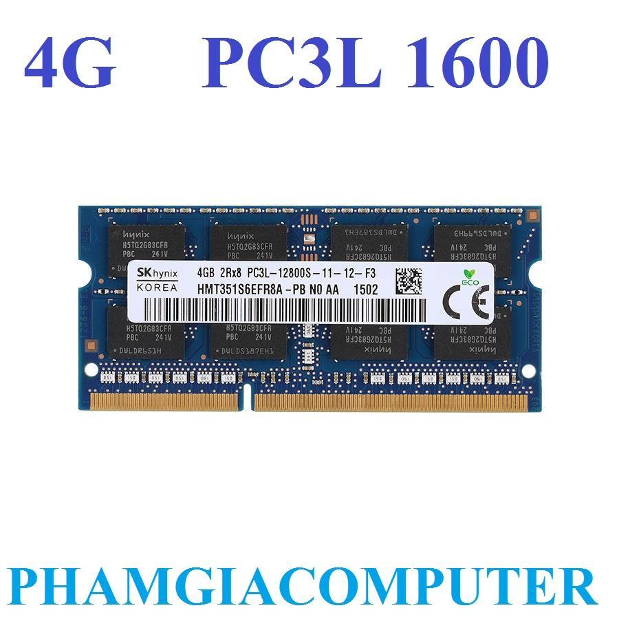 Hình ảnh Ram Laptop Hynix DDR3/PC3L 4GB Bus 1600/12800S-Hàng nhập khẩu