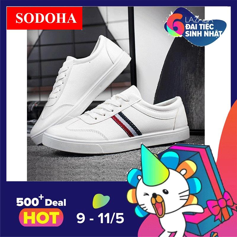 Bán Giay Sneak Nam Sodoha Smg65890W White Hà Nội Rẻ