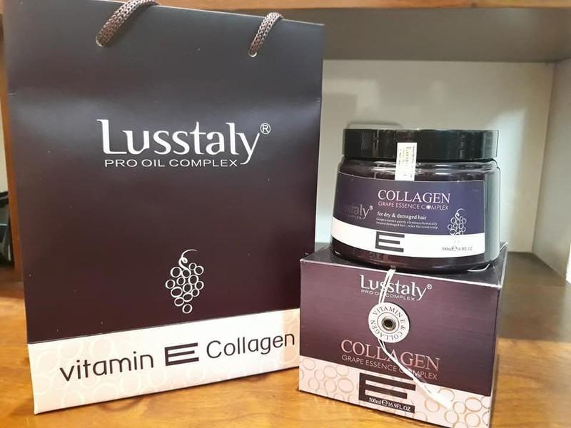Hấp phuc hồi tóc Lusstaly Italy 500ml 4