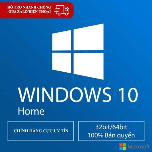 Hình ảnh Hệ điều hành bản quyền Windows 10 Home lastest 32/64 bit